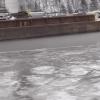 Warning: Thin Ice at Stillwater Bridge Construction Site