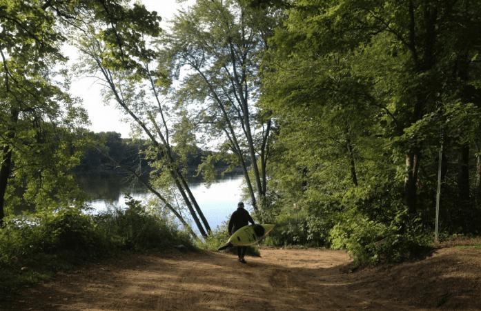 Kayaker at Log House Landing