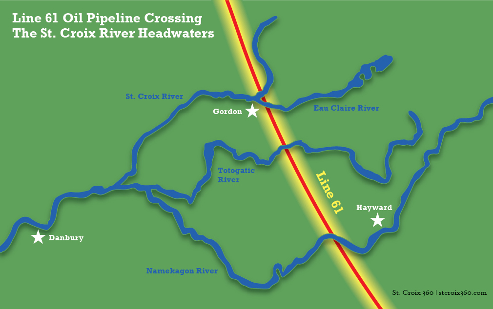 Map Of Line 61 Pipeline S Route Across The St Croix River Headwaters