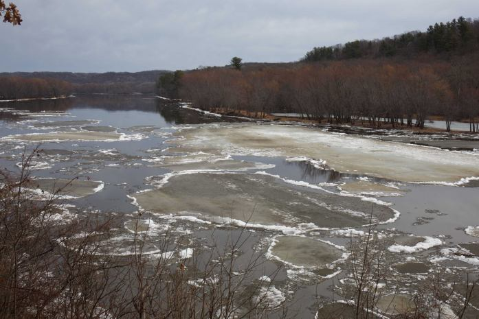 Ice out on the St. Croix River