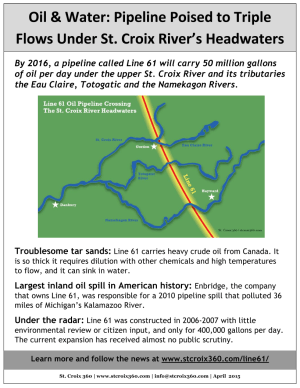 Line 61 pipeline fact sheet