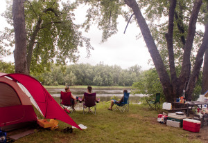 Camping on the St. Croix River (NPS photo)