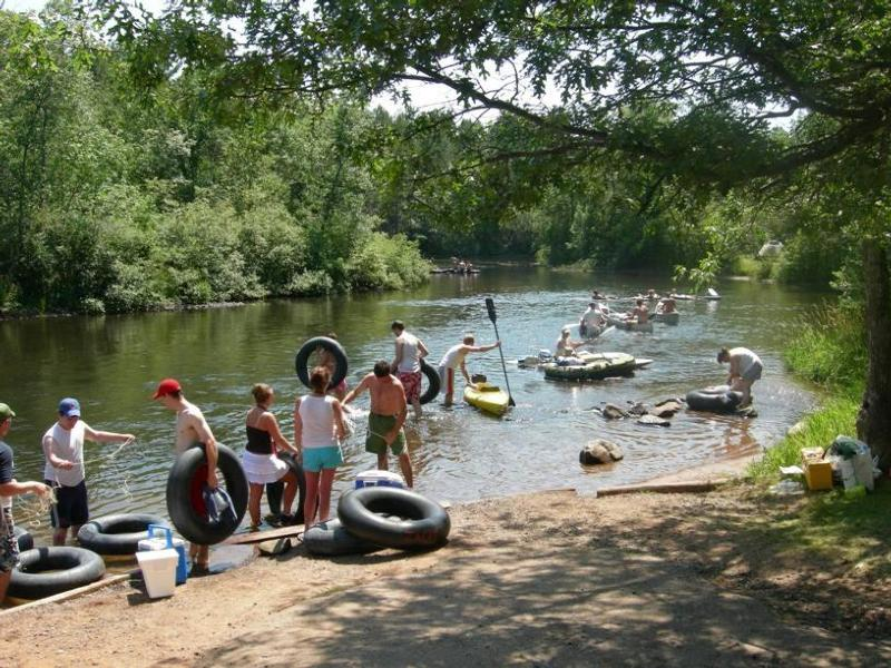 A busy day at Earl Landing on the Namekagon River (National Park Service photo)