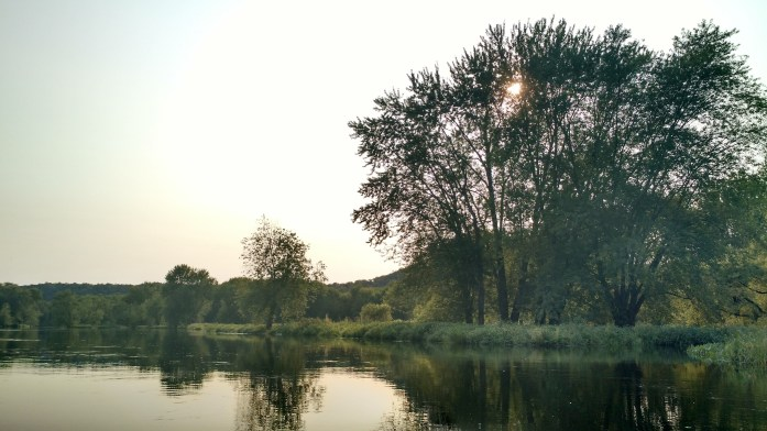 St. Croix River trees and sunset canoeing