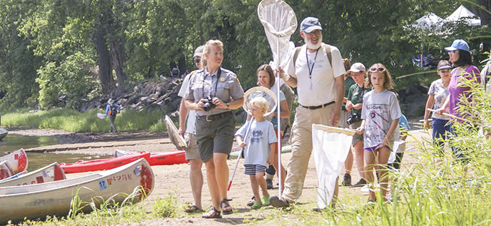 Park staff and visiting experts lead walk at the 2015 BioBlitz