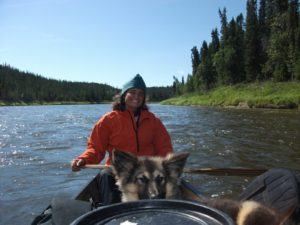 Natalie Warren on her 2,200-mile canoe trip to Hudson Bay. (Via Hudson Bay Bound)