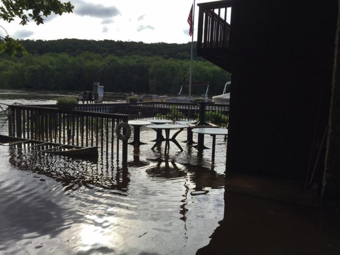 Marine Landing b.o.t.m. flooded. (Photo by Tom Warth)