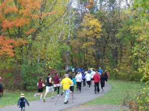 "Runner set off on the 2014 ""Otter Trotter."" (Photo via Wild River State Park)"