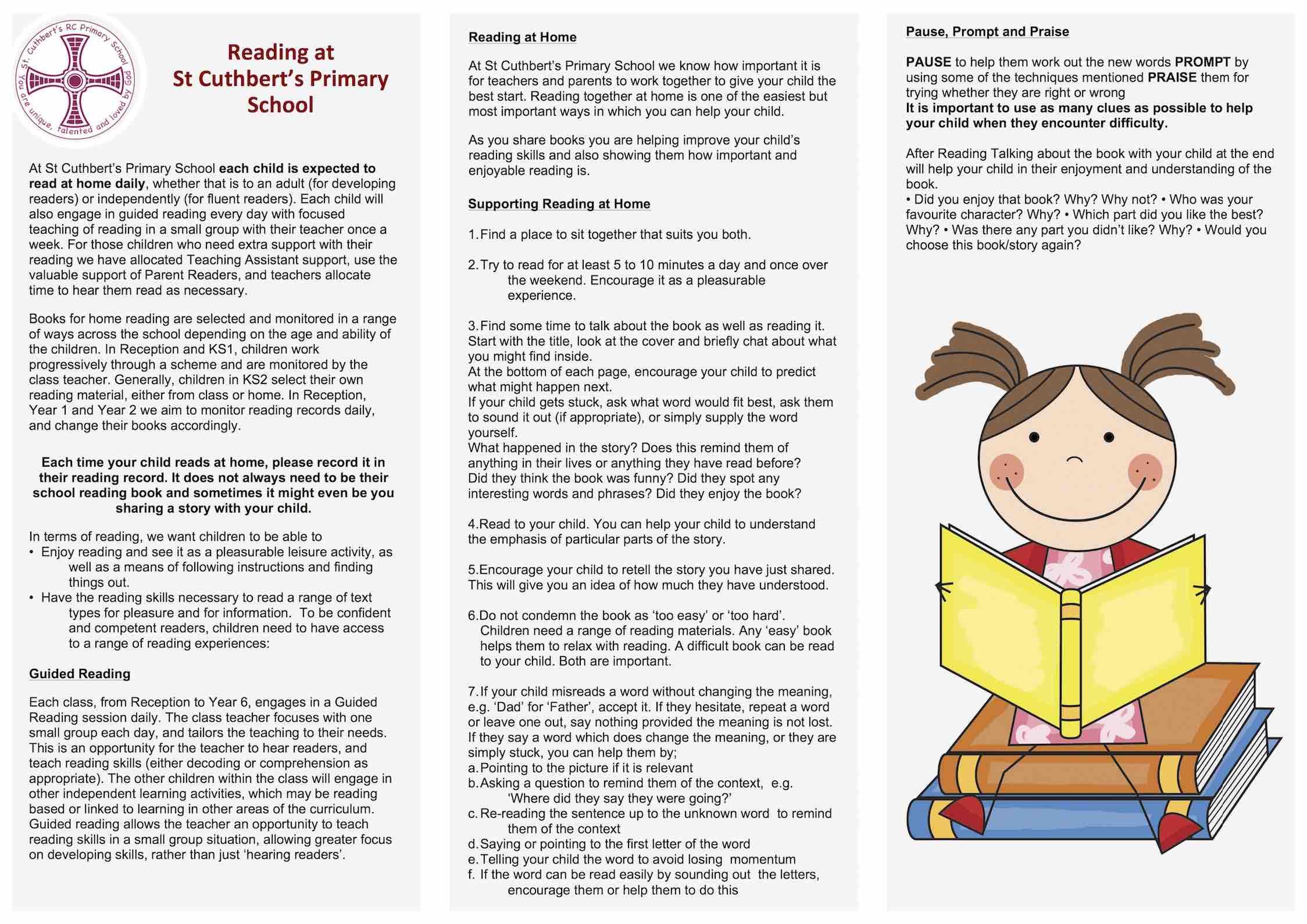 Reading At School St Cuthbert S Primary School