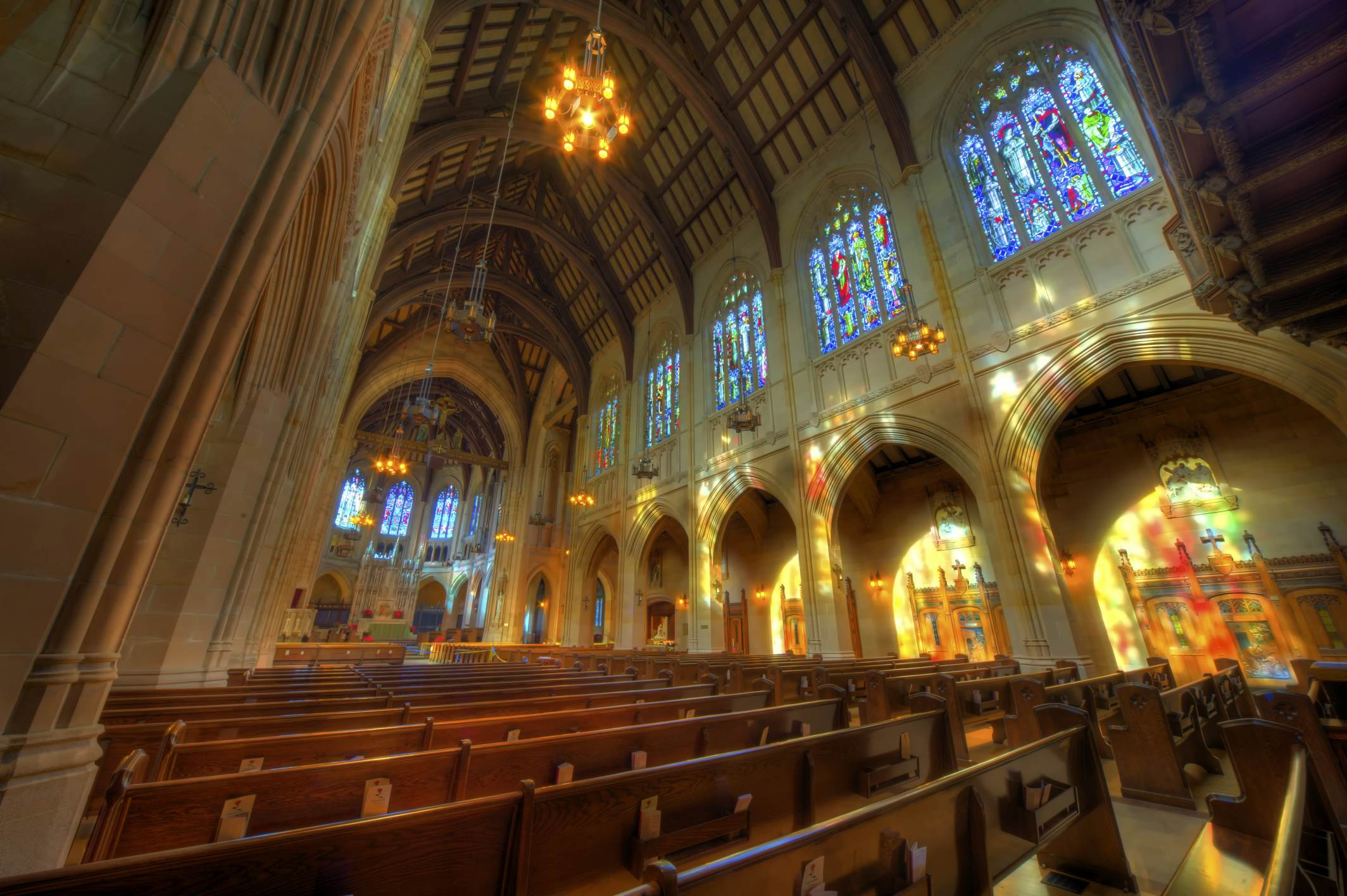 Nave of St. Dominic's Catholic Church in San Francisco image by David Yu