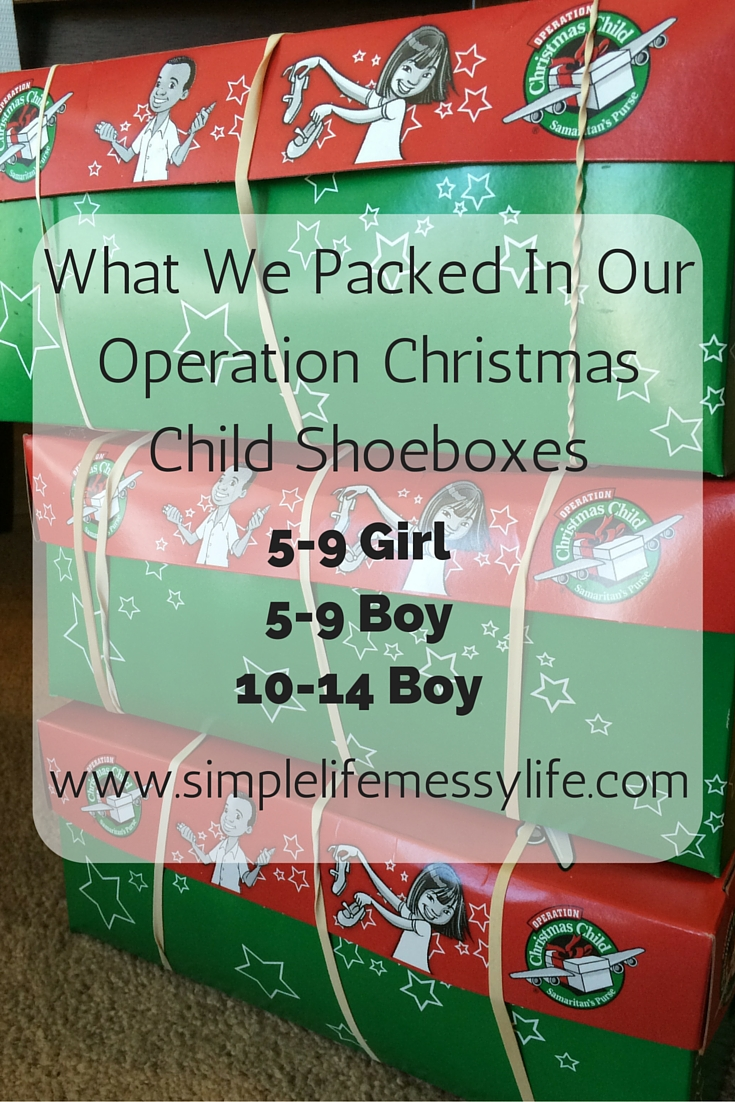 Operation Christmas Child Shoeboxes 5 9 Boy 5 9 Girl