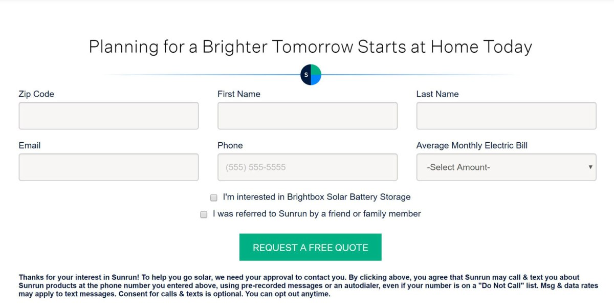 Find out more about how to get solar with an easy custom quote form