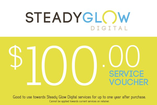 Steady Glow Digital service voucher for $100