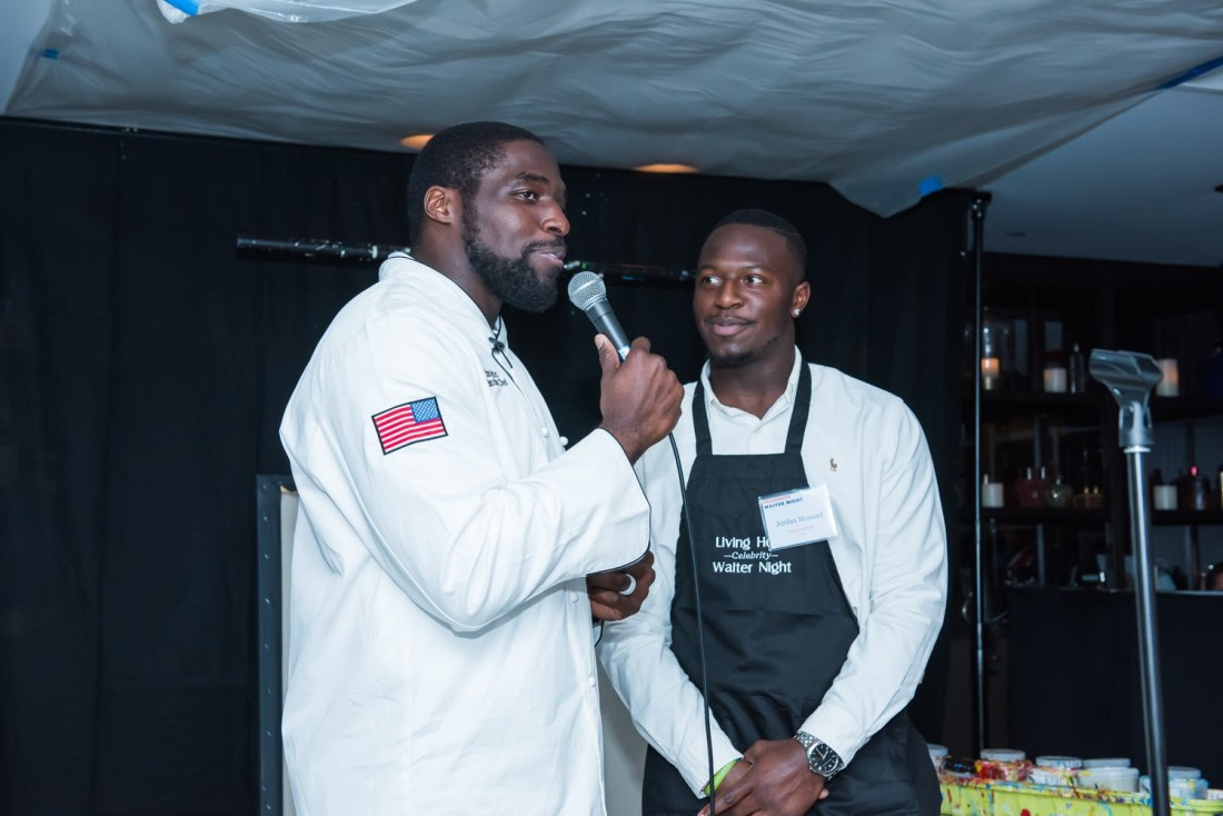 Sam Acho Speaking at the Chicago Celebrity Waiter Night