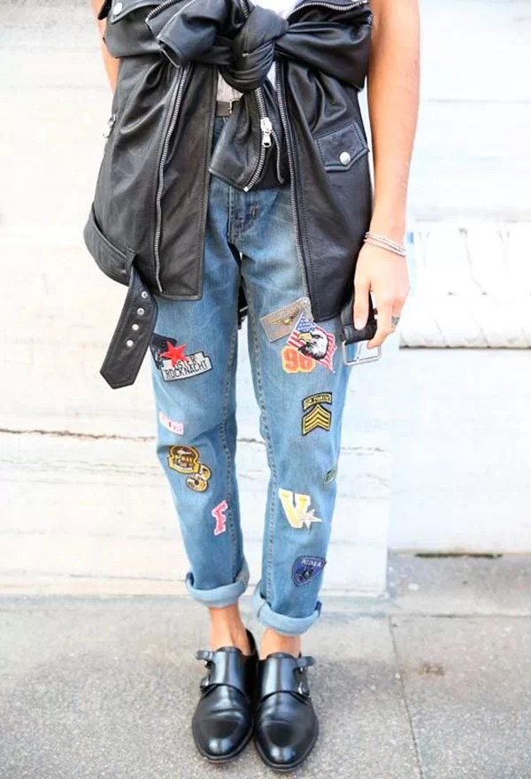 jeans com patches