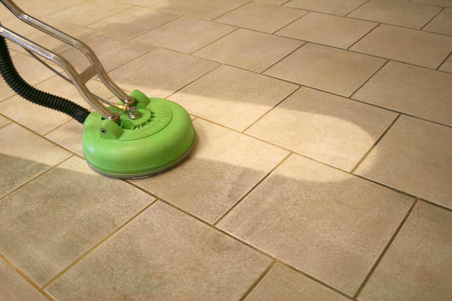 Tile and Grout Cleaning   Steam Green Tile and Grout Cleaning Process