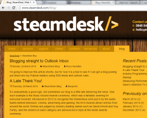 The URL is the line at the top that reads www.steamdesk.com/blog