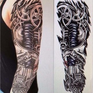 Steampunk Tattoo Gear arm