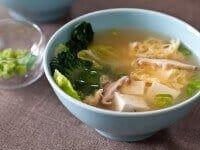 Tofu and Mushroom Miso Soup Recipe