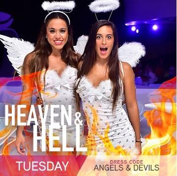 Temptation Resort Theme Night Tuesday Heaven & Hell Angels & Devils