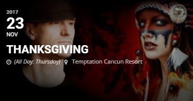 Temptation Resort Cancun Thanksgiving