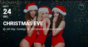 Temptation Resort Cancun Christmas