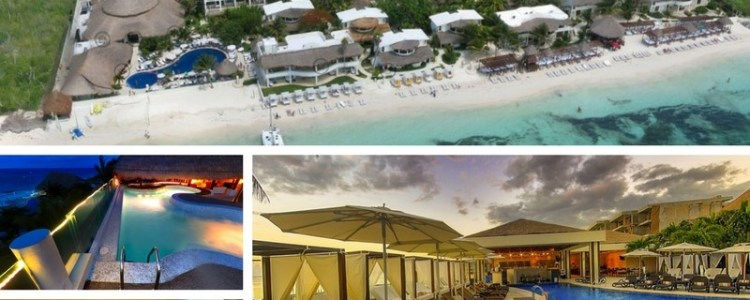 Check out theInteractive Tour of Desire Riviera Maya Resort.The virtual tour will allow you to see the entire resort. It is worth viewing. In the virtual tour you can see the view of the resort from the sky, the rooms, pool, hot tub, play room (aka sin room), and the restaurants.