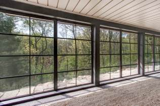 Vinyl windows on 3 season room can be closed for those chilly days and nights.