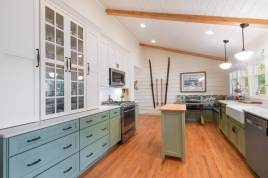 Country style kitchen is a completely transformed space.