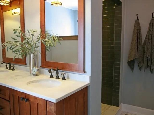 Craftsman Style Master Bath Remodel In Elkhorn Stebnitz
