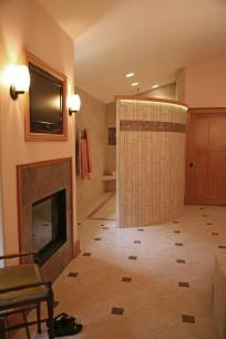 Luxurious Master Bath Remodeling Project in Delavan - master-bath-fireplace