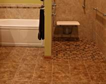Remodeling for Wheelchair Accessibility - koons-curbless-tile-detail