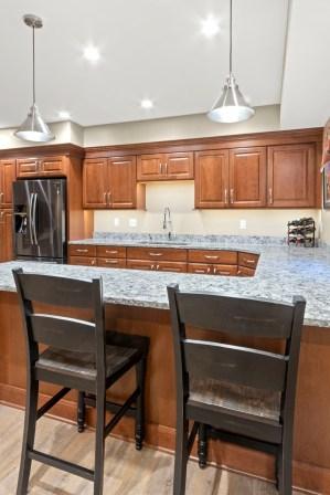 Cabinets, Refrigerator, Countertop