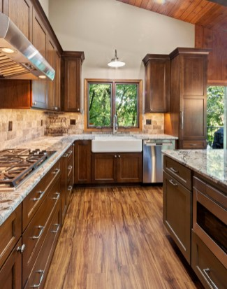 Cabinet, Sink, Stove, Countertop