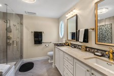 Master Bathroom with large luxury shower and vanity with double sinks