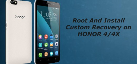 Root and install custom recovery on honor 4/4x