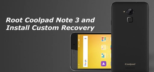 Root Coolpad Note 3 and Install Custom Recovery