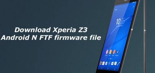Download Xperia Z3 Android N FTF firmware file