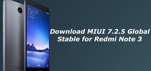 Download MIUI 7.2.5 Global Stable for Redmi Note 3