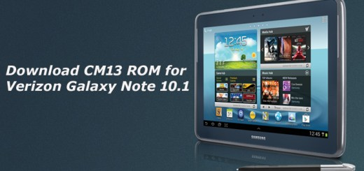 Download Official CM13 ROM for Verizon Galaxy Note 10.1