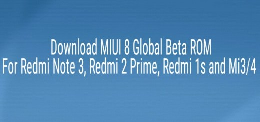 MIUI 8 Global Beta ROM for Redmi Note 3