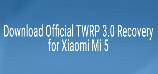 Official TWRP 3.0 Recovery for Xiaomi Mi5