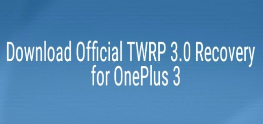 Official TWRP 3.0 Recovery for OnePlus 3