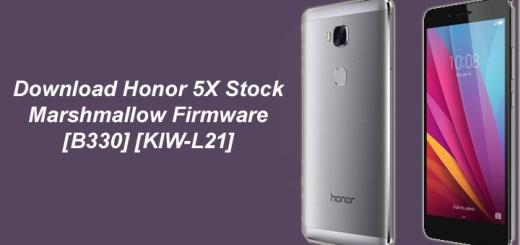 Download Honor 5X Stock Marshmallow Firmware [B330] [KIW-L21]