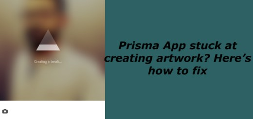 Prisma stuck at creating artwork