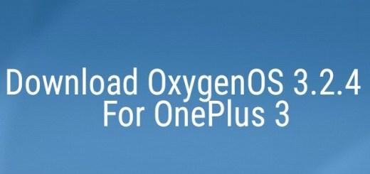 OxygenOS 3.2.4 for OnePlus 3