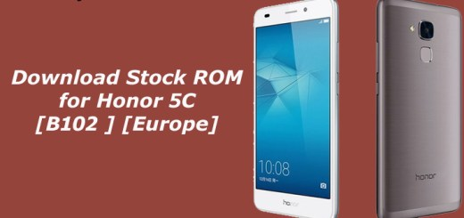 Download Stock ROM for Honor 5C [B102 ] [Europe]