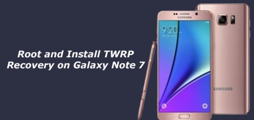 Root and Install TWRP Recovery On Galaxy Note 7