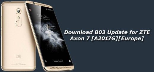 Download B03 Update for ZTE Axon 7 [A2017G][Europe]
