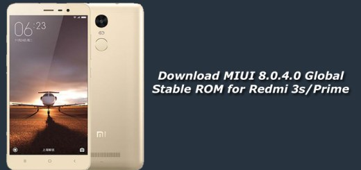 Download MIUI 8.0.4.0 Global Stable ROM for Redmi 3s
